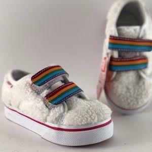 Vans Style 23 V Shearling Rainbow White Toddler